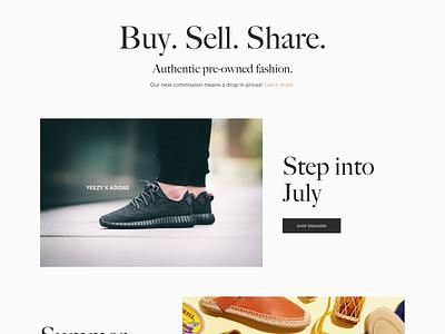 Vestiaire Collective Home Desktop Redesign web ecommerce website ui design