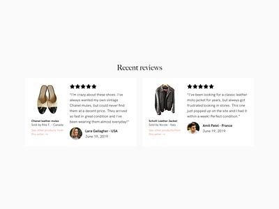 Vestiaire Collective Home Desktop Redesign - Reviews ux ecommerce website ui design