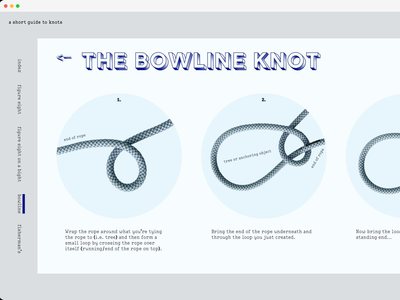 a short guide to knots climbing knots web ui design