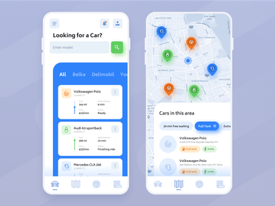 Daily UI 20 – Location Tracker fakeitchallenge dailyuichallenge pins map sharing car carsharing app locationtracker location tracker location 020 dailyui