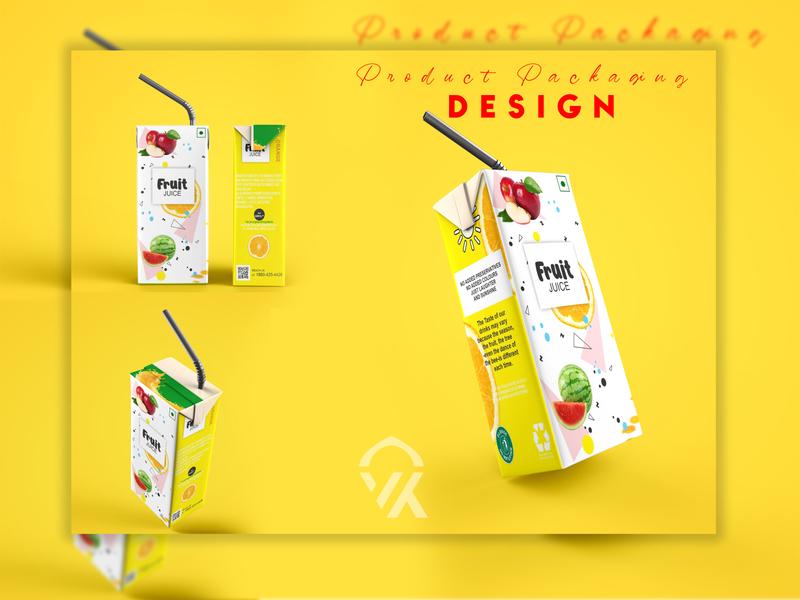 A Fruit Juice Product Packaging Design 🤙 vector life healthy juice fruit design packaging product branding