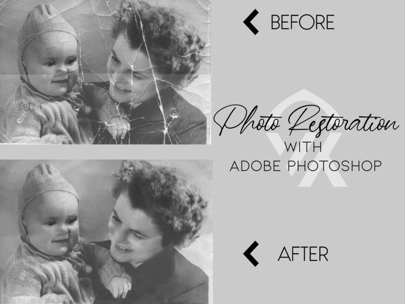 Picture Restoration design photoshop designing new pictures old restore