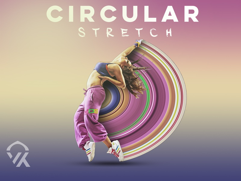 Circular Stretch Design in Photoshop logo simplycooldesign thedesigntip photoshop designer digitalart createwithphotoshop createmanipulation