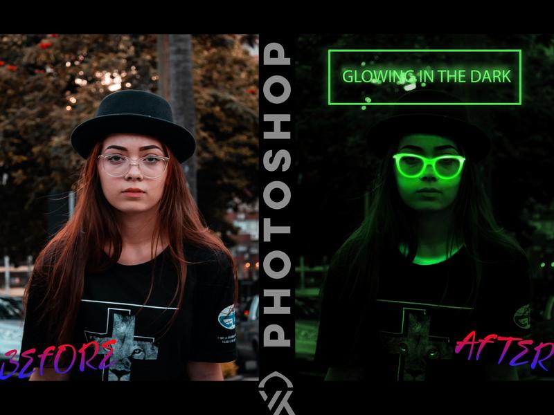 Glowing Effect in Photoshop logo art manupilation trending warm effects design photoshop glasses glowing