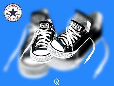 Converse All Star Vector design in Illustrator. creative design oldschool logo illustrator art vector travel sneakers halftone converse