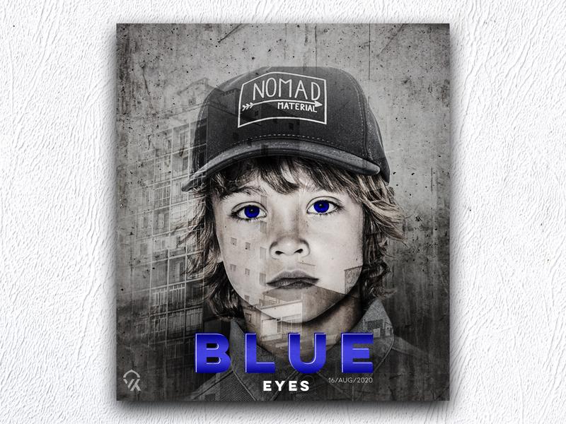 Blue eyes art design poster logo brush photoshop art eyes blue