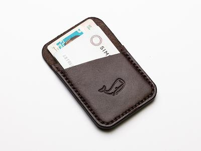 Slimline Wallet wallet underbelly branding merch leather emboss craftsmanship stitch stitching for sale