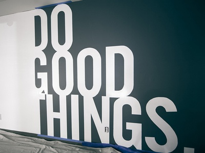 Do Good Things good things whiteboard quote sign sans white board times new roman sign up gal 6:9