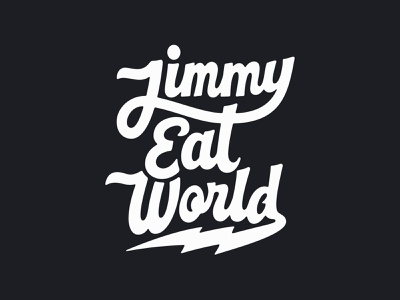 Jimmy Eat World script script lettering band merch music merch musician jimmy eat world bandmerch band hand lettering logotype logo typography custom lettering lettering