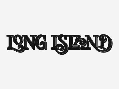 Long Island Lettering wordmarks wordmark logo wordmark serif design hand lettering logo logotype typography long island custom lettering lettering