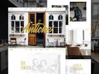 Antiche - Italian Restaurant Website & Branding