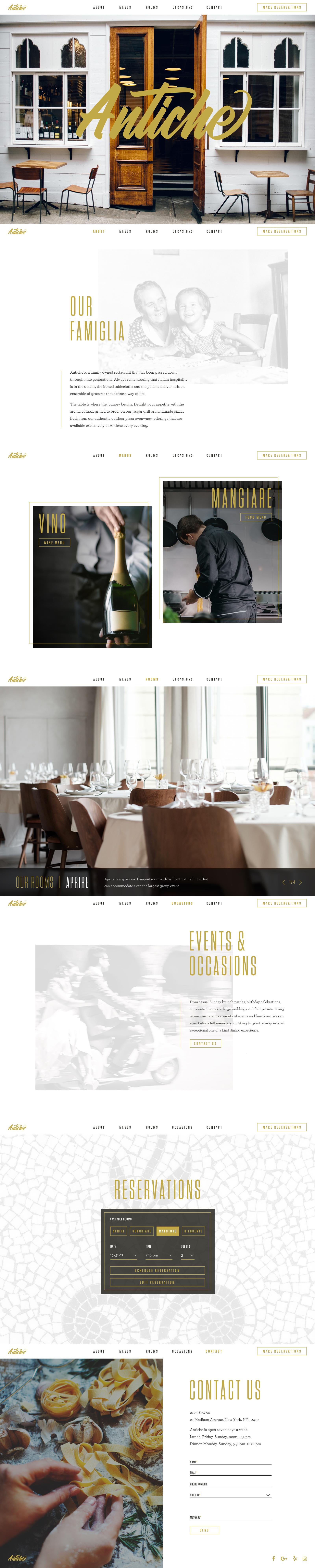 Antiche restaurant homepage 1x