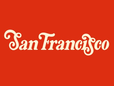 San Francisco typography logo logotype custom lettering lettering california san francisco