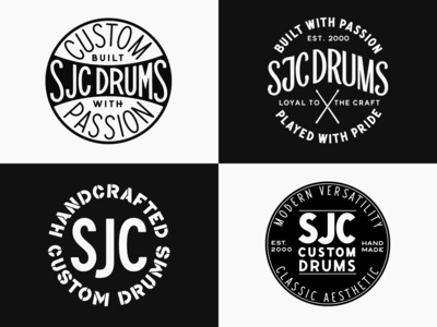 SJC Custom Drums - Badge Design