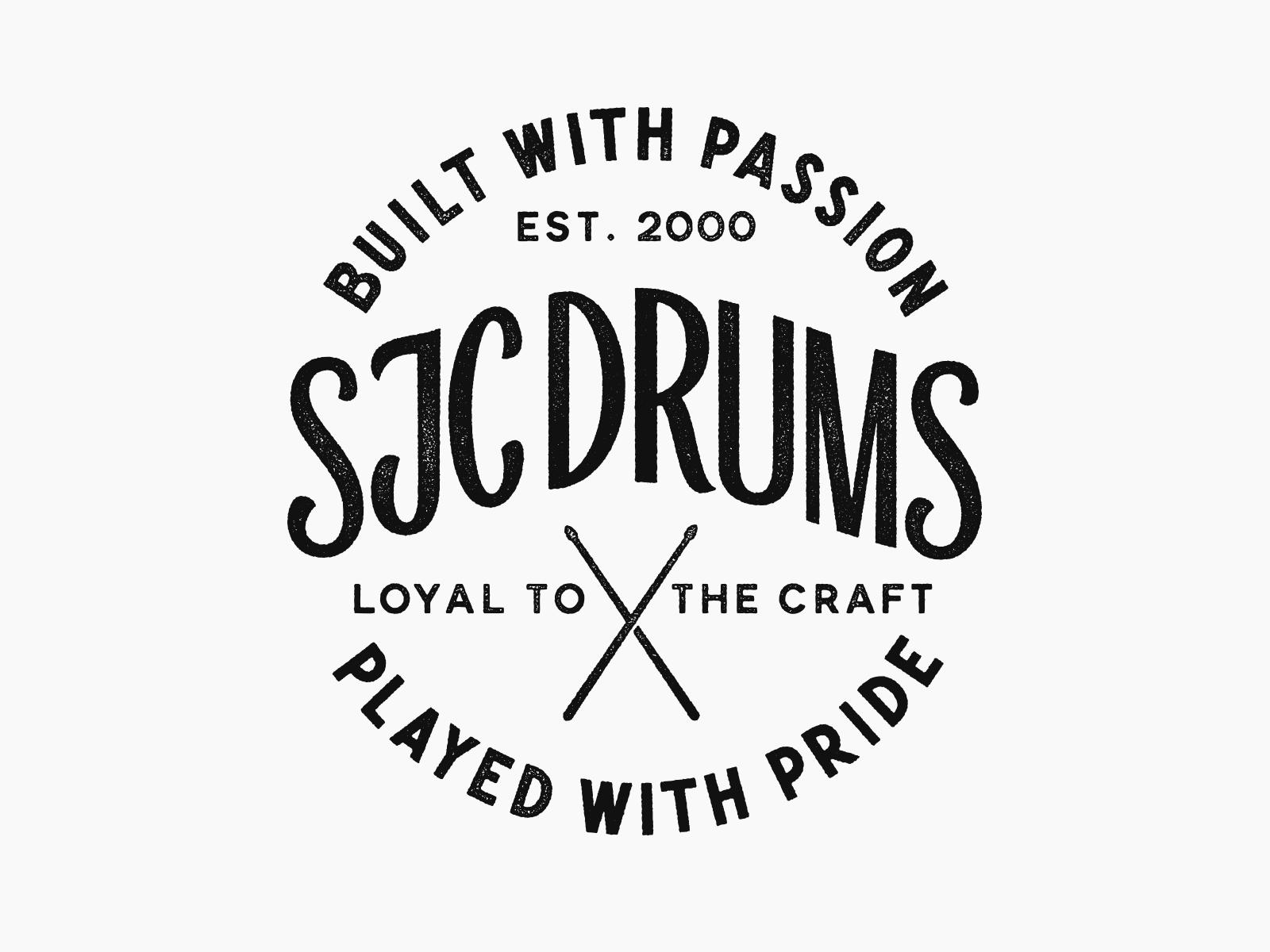 Sjc custom drums badge 1