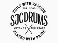 SJC Custom Drums Badge Texture Detail