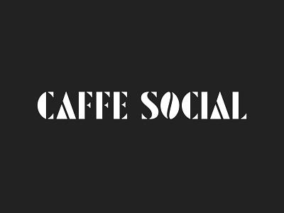 Caffe Social Stencil Logo restaurant branding cafe branding restaurant restaurant logo cafe logo cafe stencil type stencil logotype logo hand lettering typography custom lettering lettering