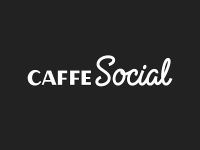 Caffe Social Logo - Sans Serif and Script lettering logo sans serif monoline script restaurant branding restaurant logo cafe logo cafe cafe branding script logotype logo hand lettering typography custom lettering lettering