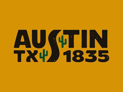 Austin Texas texas branding design typography illustration hand lettering cactus logotype logo custom lettering lettering austin texas austin