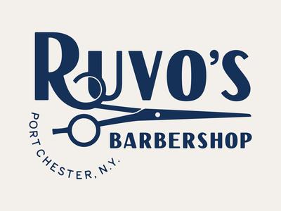 Ruvo's Barbershop Logo Lockup 1