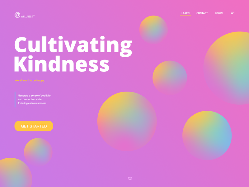 Cultivating Kindness ^_^ website colors app branding ux ui uxui web