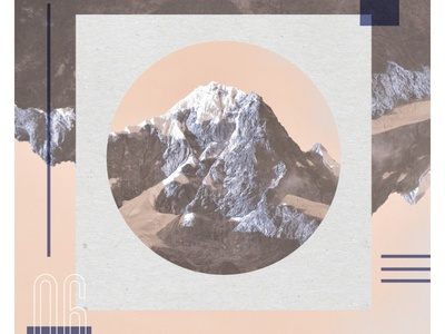 Day 06 - Over the mountain. vector texture design typography sketch daily collage