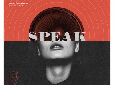 Day 12 - Speak sketch daily photoshop type design collage