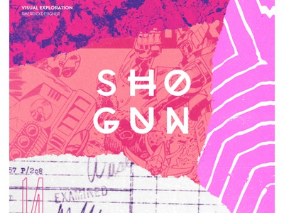 Day 14 - Shogun photoshop texture sketch daily collage retro typography design illustration
