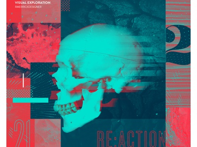 Day 21 - RE:ACTION photoshop sketch daily type collage texture design illustration