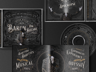 Album Art + Packaging album packaging cd typography illustraion ornate