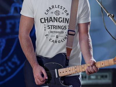 Charity T-Shirt/Type Lockup swag identity type charity apparel branding retro typography design