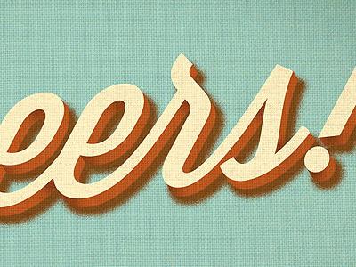 Retro Dimensional Type 3d dimensional dimension script layers texture illustration typography type vintage retro