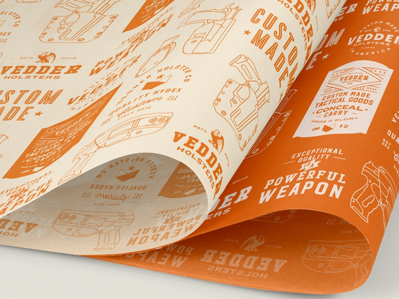 Client Brand Packaging flat type design monoweight typography linework illustration