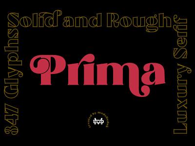 Prima - Groovy Typeface logo display font opentype fonts creative branding goodtype typography logotype bold font groovy
