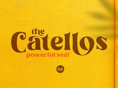 Catellos - Powerful Serif bundle font popular font web fashion branding design serif family logo display font opentype fonts branding goodtype logotype classy retro vintage groovy