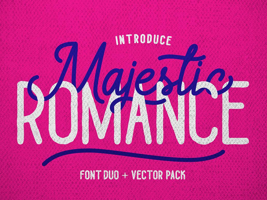 Majestic Romance vectors branding ligatures swash illustration signature font handlettering goodtype opentype fonts calligraphy typography logotype scripts script font
