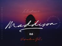 Maddison - Signature Font