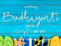 Script Font - Budhayanti