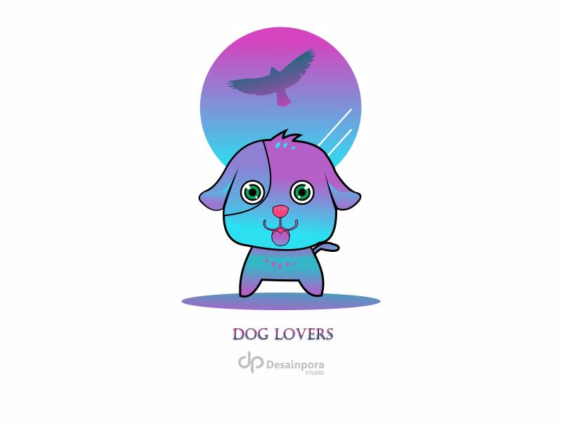 """Dog Lovers"" #3 dog illustration dog art design vector art maskot vector animation illustration flat  design animals animal art"