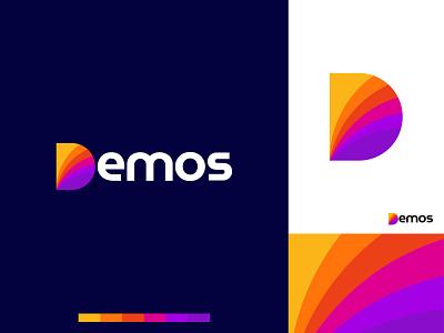 Logo design iconography brand logo multicolor colorful d letter logomark app icon logo app icon modern logo brand identity graphics vector ui ux logos typography branding logotype logo design logo