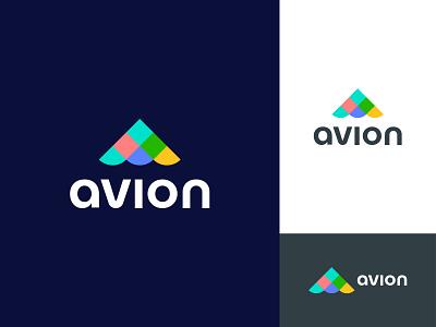 Avion logo design website app abstract design minimal flat logo animation typography app design art colourful logo multicolor colorful avion debut shot logos logotype branding logo design logo