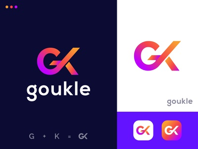 G & K Initial logo design abstract logo brand identity branding illustration icon appicon logomark k logo g logo gradient logo graphic color colorful logoforsale logofolio logoflow logos logotype logo design logo
