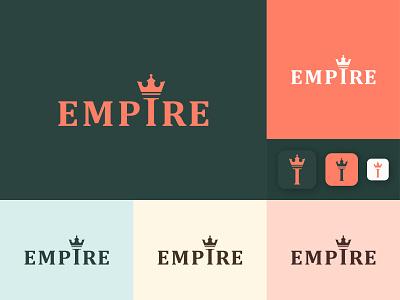 Logo Design | Empire Logo design ui motion graphics animation 3d branding illustration modern art logo icon app design landing page webdesign logofolio graphic design empire logo crown logo minimal logo lettermark typography logo design logo