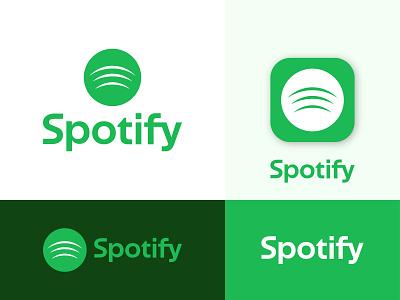 Redesign Spotify Logo website vector illustration apps 3d ui motion graphics graphic design animation logo icon logo app app logo logos logofolio branding music logo spotify logo logotype logo design logo