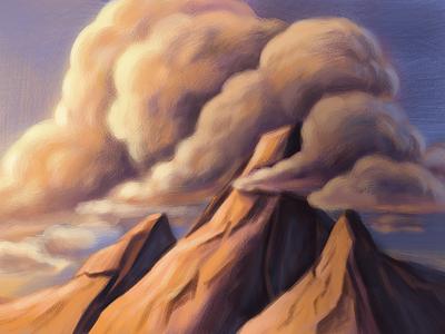 Fundamentals of lightning clouds landscapeart landscape mountains illustration art digitalartist illustration digitalpainting adobephotoshop