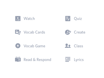 Flocabulary Icons layout video unit lesson icons