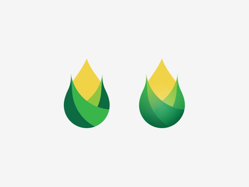 IRFA brand fuel renewable natural plants green corn vector illustration branding logo