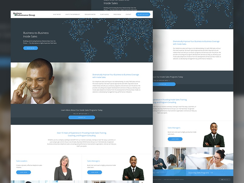Business Performance Group corporate business web design site website web