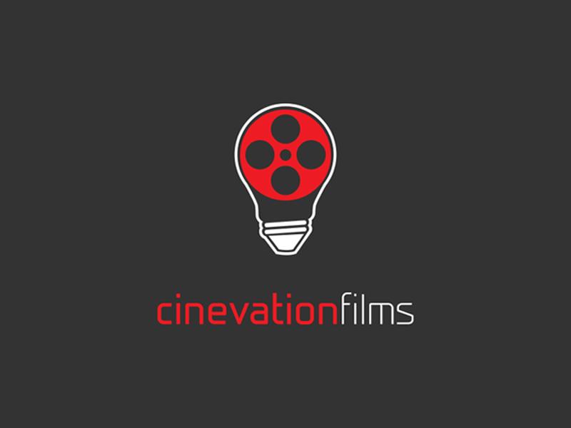 Cinevation Films films reel light bulb mark branding brand logo