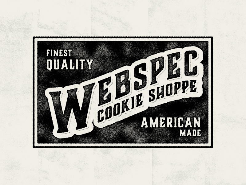 Webspec Cookie Shoppe branding brand logotype logo texture vintage shoppe cookie typography